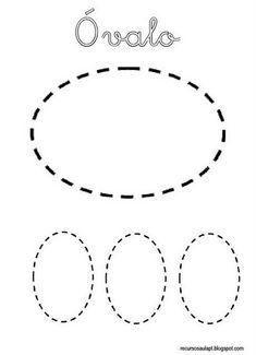 ovalo formas geometricas infantiles fichas de formas gratis  para niños
