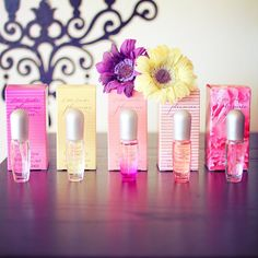"""Estee Lauder perfume bottles--I want to sample all of the """"Pleasures"""" collection!!"""