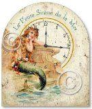 Vintage Style Little Mermaid Tabletop Clock $29.95 www.mermaidhomedecor.com