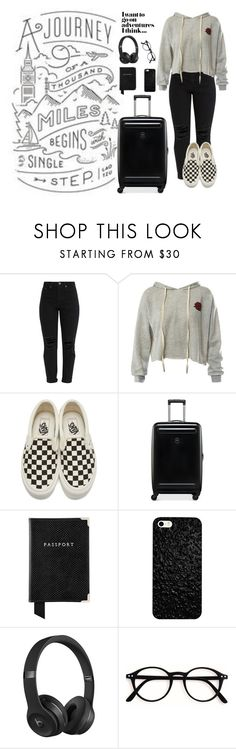 """""""A journey of a thousand miles begins with a single step"""" by dinkums-the-cat ❤ liked on Polyvore featuring Sans Souci, Vans, Victorinox Swiss Army, Aspinal of London and Beats by Dr. Dre"""