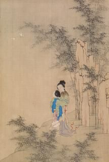 Barnes Collection Online Chinese Seated Girl On Porch In 2020