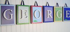 Nursery letters, custom initials, personalized wooden letters, wood initials, wood letter,initial,custom nursery letters,custom wood letters on Etsy, $14.00