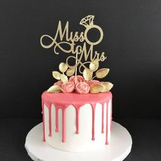 Miss to Mrs Cake Topper, Bride to Be, Bridal Shower Cake Topper, Bachelorette Cake Topper, Bachelorette Party Decor by TrendiConfetti on Etsy https://www.etsy.com/ca/listing/480844120/miss-to-mrs-cake-topper-bride-to-be