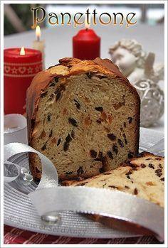 Panettone (avec poolish en machine à pain ) - Sucre et sel d'Angy Italian Panettone, Gluten Free Gingerbread, Dessert Aux Fruits, Christmas Breakfast, Sweet Desserts, How To Make Bread, Banana Bread, Food Porn, Baking