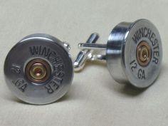 Shotgun Shell Cufflinks Winchester 12 Gauge by BulletCufflinks, $18.00