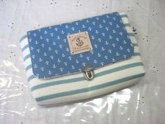 Notebook Case 96ハンドメイド母子手帳ケースA6DSLLブルーマリン インテリア 雑貨 Handmade ¥1800yen 〆05月30日