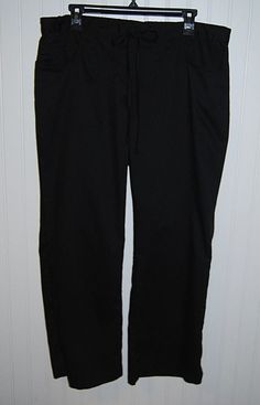 Greys Anatomy Women's Large Petite LP Scrub Pants Black Style 4232P #GreysAnatomy