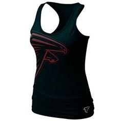 Nike Atlanta Falcons Women's Team Big Logo Tri-Blend Tank - Black