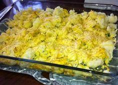 Bloemkoolschotel met kip en kerrie uit de oven
