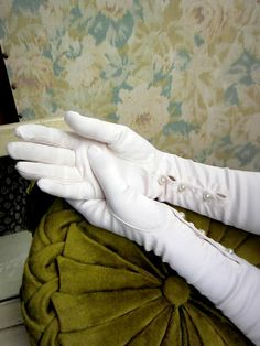 1960s Vintage Gloves Opera Length Pale by loveintheafternoon, $49.00