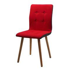 Chaise capitonnée Kaja I (lot de 2) - Rouge