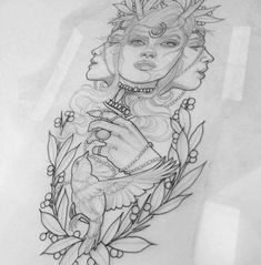 Best tattoo traditional neo faces Ideas - Best tattoo traditional neo faces Ideas You are in the right place about Best tattoo traditi - Luna Tattoo, Neotraditionelles Tattoo, Fate Tattoo, Leg Tattoos, Body Art Tattoos, Sleeve Tattoos, Tattoo Flash, Tattoo Sketches, Tattoo Drawings