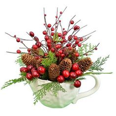 "Fantastic Craft 15"" Berry Pine Cone Teapot"