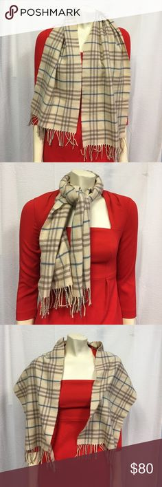 Burberry scarf Preowned in grat condition 100% lambwool Burberry Accessories Scarves & Wraps