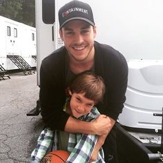"Kai Parker  on Instagram: ""Chris wood on Containment set with Zachary (Katie's Son in Containment) #ChrisWood #christophrwood #containment #cwcontainment"""