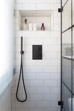 As a compact shower room in a Victorian property in London, our brief for this bathroom was industrial. Industrial Showers, Industrial Bathroom Design, Bathroom Interior Design, Compact Shower Room, Compact Bathroom, Modern Shower, Modern Bathroom, Bathroom Ideas, Small Utility Room