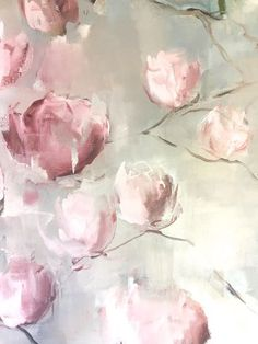 Detail... Magnolias  150x230  Oil on cotton/linen blend Nicole Pletts