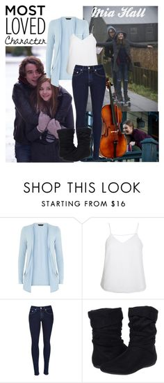 """""""Most loved character: Mia Hall- If I Stay"""" by xomikaylabelles ❤ liked on Polyvore featuring Finders Keepers, rag & bone and Report"""