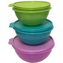 Tupperware Wonderlier Bowl Set 3 in New Colors