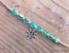 Nautical Hemp Charm Bracelet by BrandiisBoutique on Etsy, $7.50