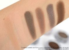 Clarins Ombre Matte Swatches