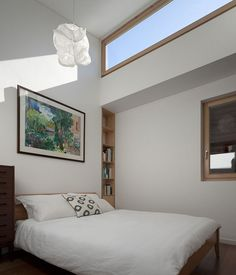 Best High Windows In Bedroom Photos - Living R High Windows, Modern Windows, High Ceiling Bedroom, Loft Style Apartments, Brown House, Small Master Bedroom, Bedroom Photos, Contemporary Bedroom, Contemporary Style