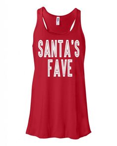 1ffb33a2485c Santa's Fave Flowy Tank Top - Shop Sunset Designs. Athletic Tank Tops