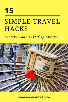 Travel can get expensive especially when airfare, car rental and hotels are involved. Every penny counts when planning and executing a trip so let us help stretch those dollars further! Here are our top travel hacks to help you save money on your next adventure. #budget #travel #hacks