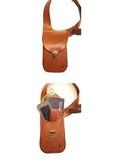 Leather shoulder holster bag / holster bag Made in FRANCE Leather Holster, Leather Belt Bag, Leather Skin, Leather Tooling, Sacoche Holster, Leather Apron, Handmade Leather Wallet, Leather Phone Case, Bronze