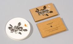 Unbleached business card design by Swear Words for Crabapple Kitchen