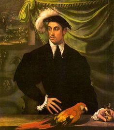Niccolò dell'Abbate - Man with a Parrot | por irinaraquel