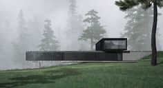 The house is located on a narrow and extended site and repeats its geometry. The composition consists of two prisms, which will represent the general and individual zones. The main objective for the house was organic influence with the surrounding wood.The geometry of the house...