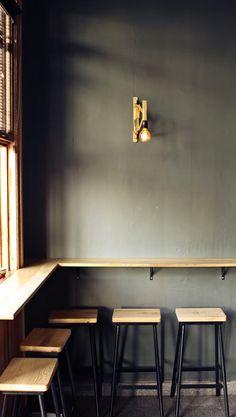 Grey wall,lamp