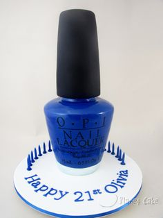 Giant Nail Polish Bottle Cake www.planetcake.com.au