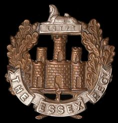 Essex regiment military badge Military Cap, Military Units, Military Flags, Military History, Army Tattoos, Ww1 Soldiers, Army Hat, British Army, North Africa