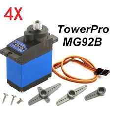 4X TowerPro mg92b par 3.5kg 13.8 g robot metal gear servo digitales