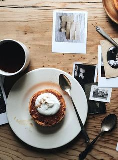 a perfect coffee flat lay with prints and fika. How to create an amazing flatlay. The vintage table really sets the mood in this photo.
