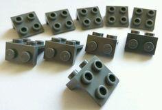 "Lego Black 1 x 2-2 x 2  /""L/"" Shaped Plates New Condition !! Brackets"