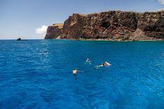Snorkeling in Hulopoe Bay - Photo Courtesy of the Lanai Visitors Bureau Lanai Island, Bay Photo, Visitors Bureau, Hawaiian Islands, Snorkeling, Summer 2016, Maui, Vacation