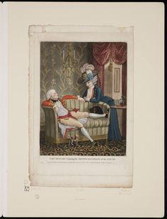 Captain Jessamy learning the proper discipline of the couch, 1782,  Lewis Walpole Library Digital Collection