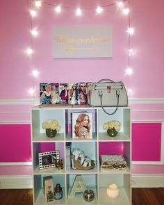 pink and gold room decor