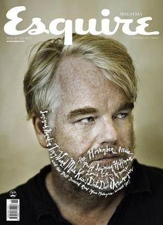 Seymour Hoffman, Covers Magazines, Layout Design, Covers Design, Magazine Cover Design, Editorial Design, Esquir Magazines, Magazines Covers, Seymor Hoffman