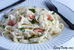 Easy way to cook Italian Shrimp Fettuccine