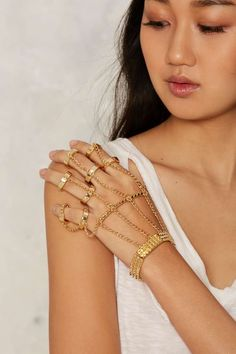 Chained in Love Hand Piece - Accessories | Body Jewelry