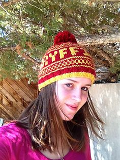 Harry Potter Beanies-all 4 houses included in this free pattern. It's magic! :-)