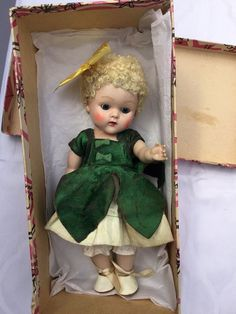 Vintage Vogue Ginny Strung PL DAWN 1952 #30 Kindergarten HTF Petal Dress! BOX #Vogue #DollswithClothingAccessories
