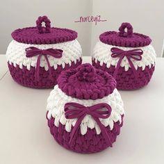 1 Million+ Stunning Free Images To Use A - Diy Crafts Crochet Bowl, Crochet Basket Pattern, Knit Basket, Free Crochet, Knit Crochet, Crochet Patterns, Crochet Storage, Unique Crochet, Crochet Purses