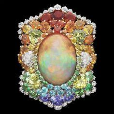 Dior 'Broderie Grenade Irisée' ring