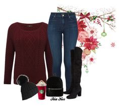 """winter outfit"" by ria-kos ❤ liked on Polyvore featuring M&Co, J Brand, Yves Saint Laurent, Boohoo and Black"