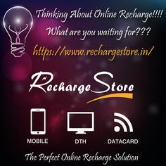 What are you waiting for!!! In the fast velocity world of Internet, nobody has much time to wait for their turn by standing in queues for recharging #prepaid connections or #postpaid bill #payment. Online recharge Facility is for those people who do not have much time to stand in queue to get #recharge their #mobile phones. So, without disturbing your current work, you can recharge your prepaid service.  https://www.rechargestore.in/ Click here to get perfect Online Recharge #Service.